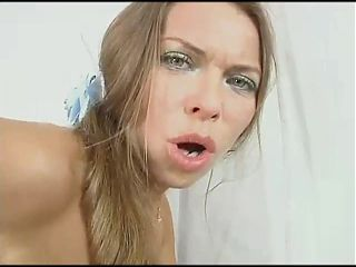Lesya and Mile caress each other with their fingers and moan