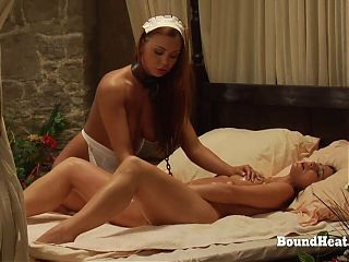 Lesbian Maid Gives Perfect Pussy Massage To Her Madame