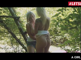 A GIRL KNOWS, Angel Piaff and Nathaly Cherie, Lesbo Outdoor Play